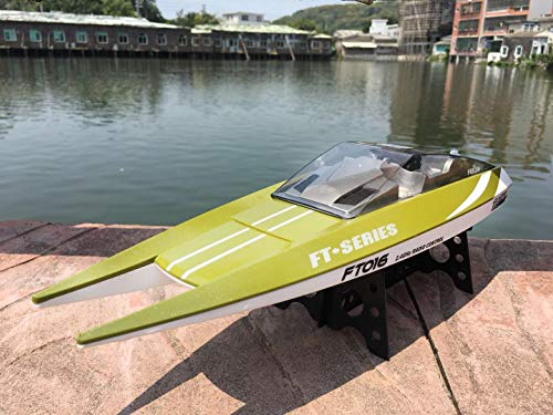 Feilun rc Boat Newest 2018 Feilun FT016 016 Remote Control Boat Watercraft Large Racing High Speed 30KM/H Motor Excellent Auto Water Cool Functions for Hobbies Player Adult (Orange or Green)
