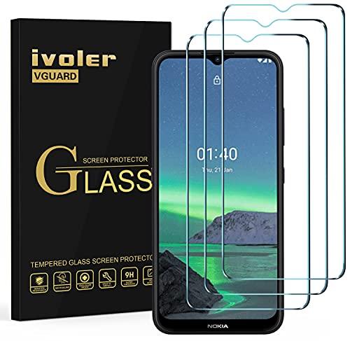 ivoler 3 Stücke Panzerglas Schutzfolie für Samsung Galaxy A22 5G / A02S / A03 / Nokia 1.4, 9H Festigkeit Panzerglasfolie, Anti-Kratzen Folie, Anti-Bläschen Bildschirmschutzfolie, Kritall-Klar Hartglas