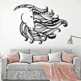 Sweet Dream Wall Decal Catcher Horse Mane Animal Dormitorio Sala de Estar decoración del hogar Pegatina de Vinilo 63X84cm