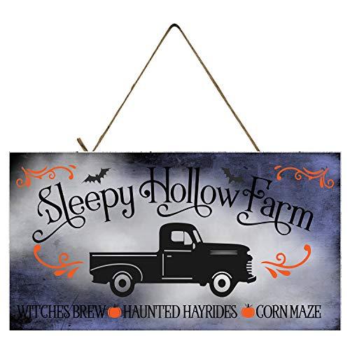 Sleepy Hollow Farm Halloween Printed Wood Sign