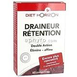 Diet horizon - Draineur rétention - 60 comprimés - Aide à l'élimination de l'excès d'eau