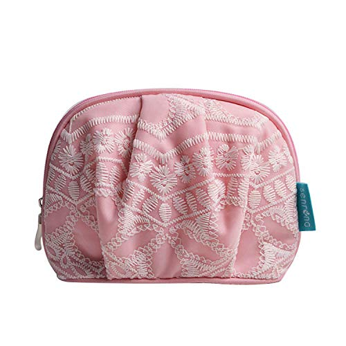 XIAOJIU Sac Cosmétique Vanity Et Trousses À Maquillagecosmetics Shell Bags Hand-in-Hand Collection Bag Rose
