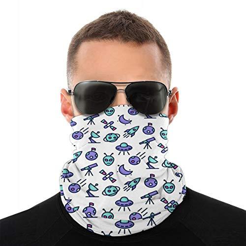 Alien Multifunctionele sjaal, met geluiddemper, hoog ademend, hoge elasticiteit, gezichtsmasker en haarband, winddicht, zonwering, uniseks