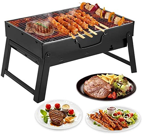 IMBM Barbecue Grill Portable Charcoal Barbecue Table Camping Outdoor Garden Grill Utensil Foldable Charcoal Set it is The Best Choice for Outdoor Grilling