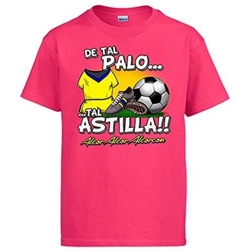 Diver Camisetas Camiseta de Tal Palo Tal Astilla de Alcorcón para Aficionado al fútbol - Rosa, XL