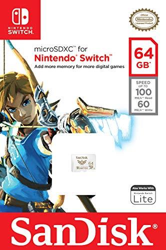 SanDisk microSDXC UHS-I Tarjeta para Nintendo Switch 64GB, Producto con Licencia de Nintendo 2