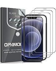opamoo [3-Stuks] Screen Protector voor iPhone 12 /iPhone 12 Pro (6.1''),Screenprotector voor iPhone 12 Pro Volledige Scherm met Uitlijning Frame Geen Bubbels 9H Beschermglas iPhone 12 /iPhone 12 Pro