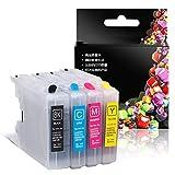 Cartucho de tinta, juego de cartuchos de tinta de color, cartuchos de tinta fáciles de rellenar, adecuado para cartucho Brother LC400BK MFC-J430W J825 625DW 5910 cartucho MFC-J6910CDW J6710CDW J5910C