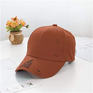 Hats Embroidered Letters Baseball Caps Wild Summer Sunshade Cap Fashion (Color : Orange, Size : F/56-59cm)
