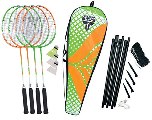 Talbot Torro Unisex – Erwachsene Badminton Federball, 4-Attacker Plus Set, 449406