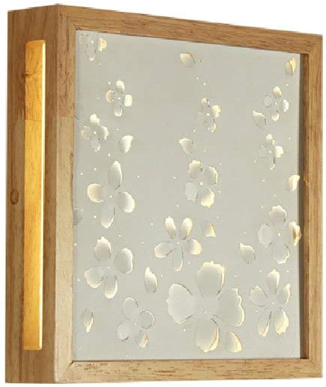 SPA  Lampen im japanischen Stil Wandleuchten Kreative Massivholz-Wandleuchte Moderne minimalistische Wohnzimmer Gang dekorative Leuchten Led Persnlichkeit Schlafzimmer Nachttischlampe