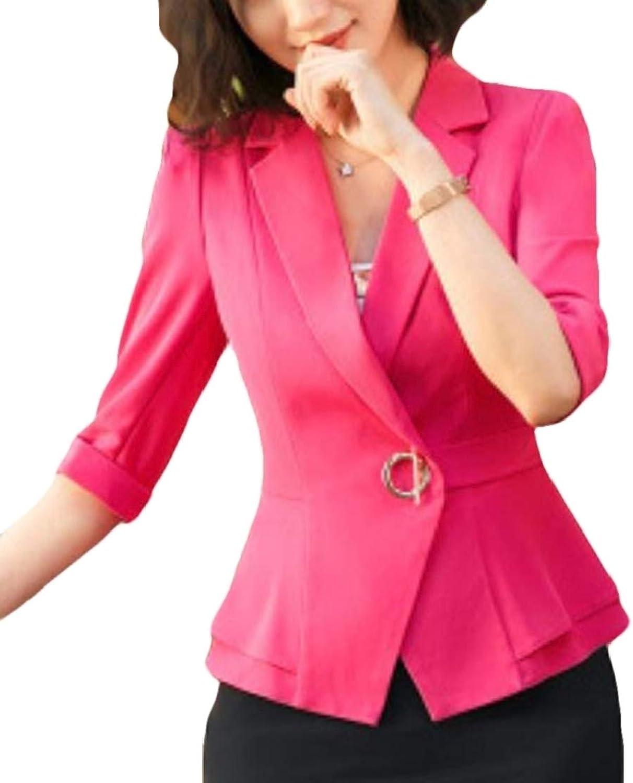 Hurrg Womens Wear to Work Lapel Career Hotel Dress Blazer Jacket Sport Coat