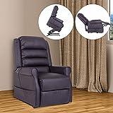 HOMCOM Elektrischer Fernsehsessel Aufstehsessel Relaxsessel Sessel mit Motor und Aufstehlhilfe Braun - 2