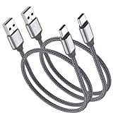 Short USB Type C Cable,OneKer(1ft 2-Pack) Portable...