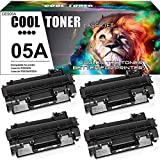 Cool Toner Compatible Toner Cartridge Replacement for HP 05A CE505A P2035 Toner HP Laserjet P2055dn P2035n P2035 P2055d P2055 P2030 P2050 HP 2035n 2055dn 2035 CE505 Toner Printer Ink (Black, 4-Pack)