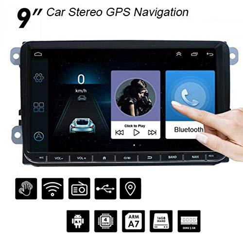 shewt 9'Android 8.1 CANBUS GPS del Coche de navegación del Coche MP5 Radio FM/RDS para VW Volkswagen Golf 5 6 Campo de Polo Passat Jetta Skoda Seat Altea