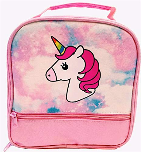 Unicorn Lunch-Box for Girls Pink Lunch Bag with Rainbow Horn Large School Lunch-Boxes Gifts for Little Girl Kids Toddlers Cute Tote Insulated BPA Free
