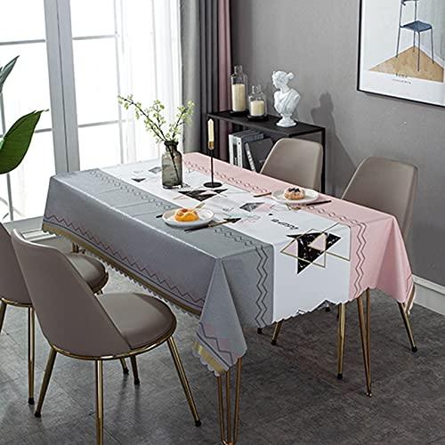 XXDD Mantel Rectangular Rectangular Cubierta de Escritorio Mantel Impermeable decoración de Mesa Mantel Lavable a Prueba de Polvo A4 140x140cm
