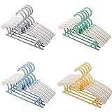 Perchas Infantiles, JSF Perchas Bebe Ajustable 29-37CM, Paquete de 20, 4 Colores