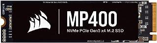 Corsair MP400 4TB Gen3 PCIe x4, NVMe M.2 SSD (Lesegeschwindigkeitenvon bis zu 3.400 MB/s sowie sequenziellen Schreibgeschwindigkeiten bis 3.000 MB/s, Hochdichter 3D QLC NAND) Schwarz