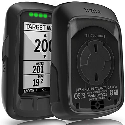 TUSITA Case for Wahoo Elemnt Bolt - Silicone Protective Cover - GPS Bike Computer Accessories (Black)