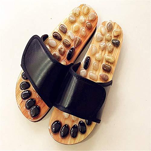 WEIXINMWP Chaussures de Massage Slipper Médecine Chinoise Pédicure Pointe de pavés Acupoint Hommes Femmes Santé Healthcare Chaussons,2,35/36