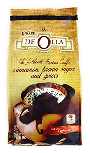 Cafe De Olla: The Authentic Mexican Ground Coffee with Cinnamon, Brown Sugar, and Spices, 17.6 Ounce