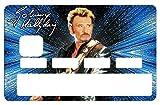 Stickers Autocollant pour Carte bancaire, Johnny Hallyday, 2émé Edit. limitée 300 ex - 1 sur 300 - Différenciez et décorez votre carte bancaire suivant vos passion