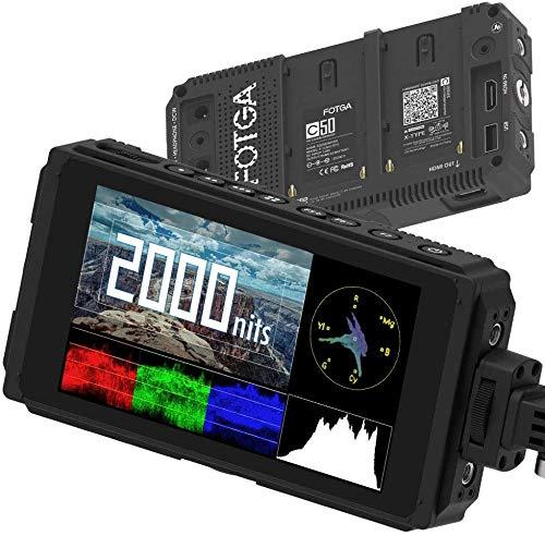 Kamera Field Monitor, Fotga C50 Ultra Bright Feldmonitor Full HD IPS Touchscreen Kamera Monitor 3D-LUT, Wavaform, Vektor, 4K-HDMI-EIN- / Ausgang