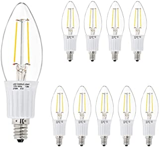 LED Candelabra Chandelier Clear Candle Light Bulb - 3W (30W Equivalent Replacement), 2800