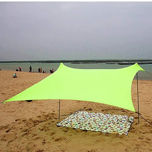 HAOCHI Canopy Portátil Tienda De Campaña con Anclajes De Sacos De Arena Refugio Solar Protección UV para Niños Familia En La Playa Parques Acampada Picnic Al Aire Libre-Amarillo l 280x280cm