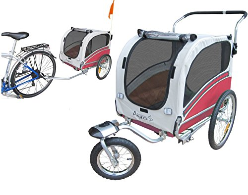 POLIRONESHOP ARGO rimorchio e passeggino per trasporto cani cane animali carrello carrellino trasportino rimorchi da bici bicicletta jogger carrozzina