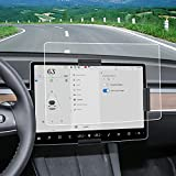 SUMK 2021 Model Y Center Control Touchscreen Car Navigation Touch Screen Protector Tempered Glass Anti-Scratch Anti- Glare and Shock Resistant for Model Y/3(Matte)