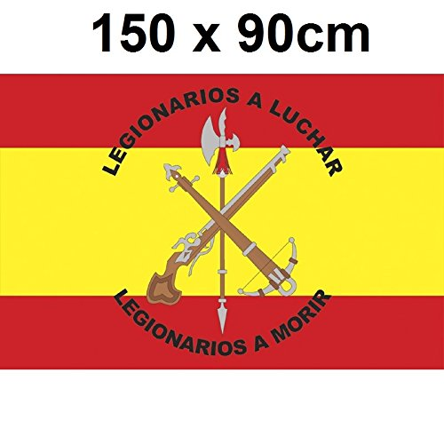Gran Bandera de Legion de España150 x 90 cm Satén Durabol