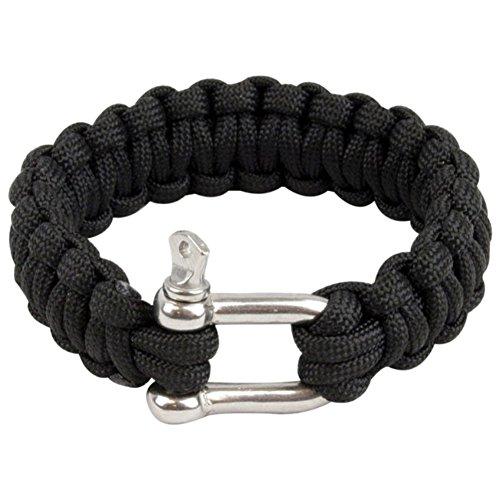 Highlander Paracord Bracelet D-Ring Noir