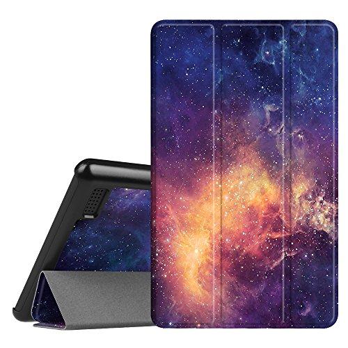 Fintie Hülle kompatibel für Amazon Fire 7 Tablet (7. Generation - 2017 Modell) - Lightweight Schutzhülle Tasche mit Standfunktion und Auto Schlaf/Wach Funktion, Die Galaxie