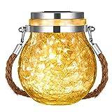 ACELEY Luces solares colgantes para tapa de tarro de albañil,...