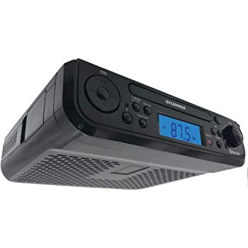 Sylvania SKCR2713 Under Counter CD Player with Radio and Bluetooth, Black