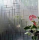 LMKJ Película Adhesiva electrostática película de Vidrio autoadhesiva en Relieve Opaco Opaco Pegatinas Decorativas para Ventanas A28 45x200cm