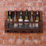 SGMYMX - Scaffale da Parete per Bottiglie di Vino e Champagne B