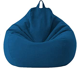 Bean Bag Chair Cover,Soft Bean Bags Chairs for Kids Teens Adults, Lazy Sofa Bean Bag, Stuffable Zipper Beanbag Covers for Organizing Children Plush Toys or Memory Foam (Size -S, Cover Only, No Filler)
