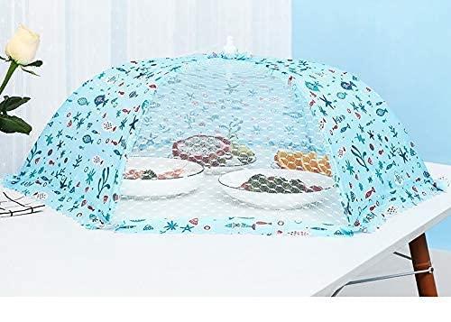 DAGUAI Hermosa cubierta de la tapa del jardín de la cubierta de la tapa de la fruta BBQ 3 6 unids cubierta de mesa plegable estilo paraguas ventana cubierta de pantalla de malla tiendas de picnic reu