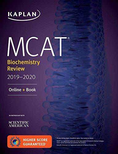 MCAT Biochemistry Review 2019-2020: Online + Book (Kaplan Test Prep)