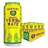 Guayaki Yerba Mate | Organic Alternative to Herbal Tea, Coffee and Energy Drink | Enlighten Mint | 150 mg of Caffeine | 15.5 Oz | Pack of 12