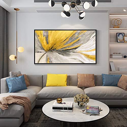 Moderne abstracte olieverfschilderij canvas kunst cadeau decoratie woonkamer muurkunst frameloos schilderwerk