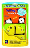 Eureka Classroom Clock for Learning to Tell Time with Activity Book with Stickers, 4.5'', 3 pcs