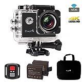 Action Kamera Wasserdicht, CrazyFire Action Cam WiFi 4K,16MP Helmkamera Skifahren 170 Grad...
