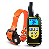 ONEKG Dog Training Collar, Shock Collar for Dogs with Remote, 2600FT/866Yd Range w/3 Training Modes,...