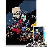 HellboyBaron Blaze puzzle 38x26cm Mini Papel 1000 piezas Rompecabezas de...