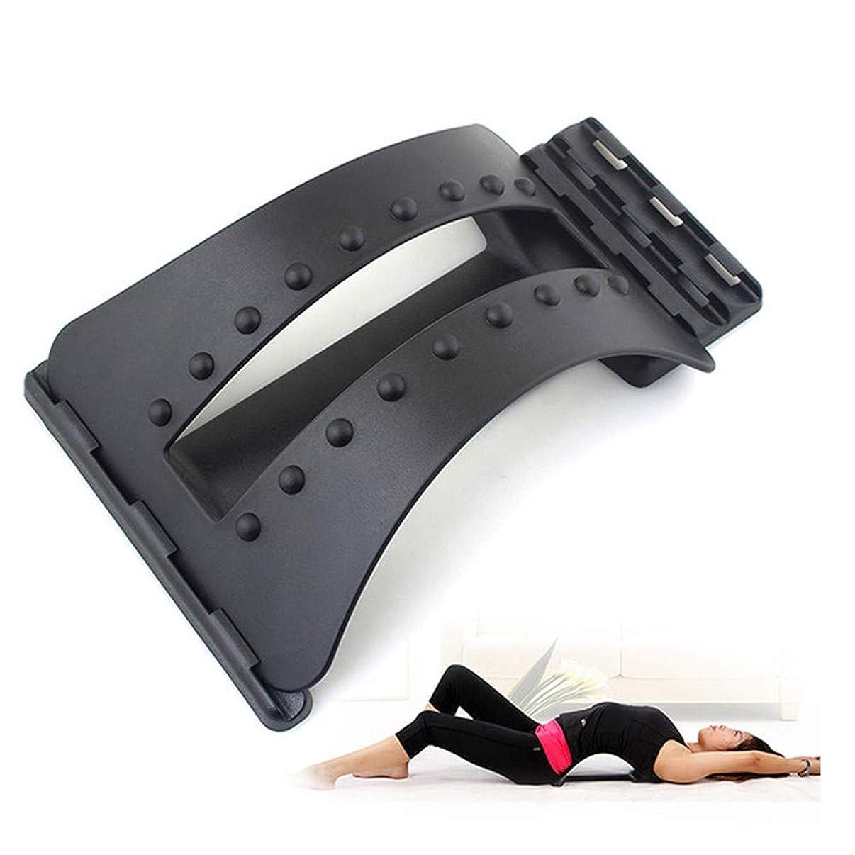 出撃者振り向く指標背中マッサージストレッチャーフィットネスマッサージ機器ストレッチリラックスストレッチャー腰椎サポート脊椎疼痛救済カイロプラクティックドロップシップ